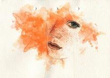 Abstraktes Frauenportrait Art und Weisehintergrund Lizenzfreies Stockbild