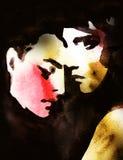 Abstraktes Frauenportrait Art und Weisehintergrund Lizenzfreie Stockbilder