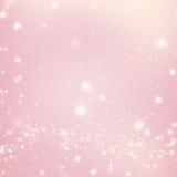 Abstraktes Funkeln Defocused Bokeh Blinkensterne und Schneeflocken Lizenzfreies Stockbild