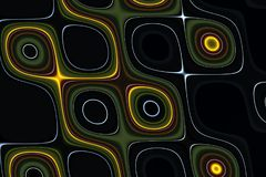 Abstraktes funkelndes flüssiges Gold zeichnet Hintergrund, Beschaffenheit, Hypnotik unscharfes kreatives Design Stockbilder
