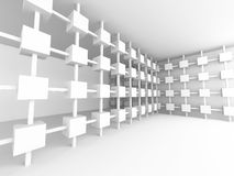 Abstraktes futuristisches Design-leere Innenarchitektur Backgroun Lizenzfreie Stockfotografie