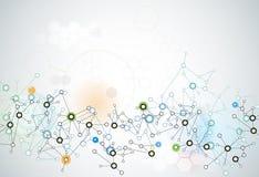Abstraktes futuristisches - Molekültechnologiehintergrund Lizenzfreies Stockbild