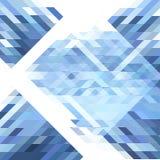 Abstraktes futuristisches Polygonmuster in den verschiedenen Schatten von Blauem und von weißem Stockfotos