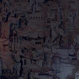 Abstraktes futuristisches techno Muster Illustration Digital 3d Stockfotos