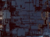 Abstraktes futuristisches techno Muster Illustration Digital 3d Lizenzfreie Stockfotografie