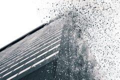 Abstraktes Gebäude simulierte Explosion Stockfoto