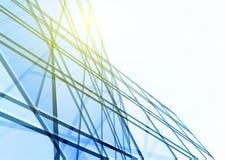 Abstraktes Gebäude von den Linien Lizenzfreies Stockfoto