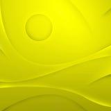 Abstraktes Gelb bewegt Hintergrund wellenartig Stockbilder