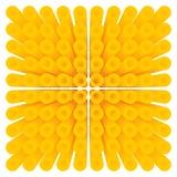 Abstraktes Gelb kreist isometrisches Muster des Rohrs ein Lizenzfreie Abbildung