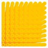 Abstraktes Gelb kreist isometrisches Muster des Rohrs ein Vektor Abbildung