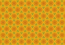 Abstraktes gelbes Blumenmuster Stockbilder