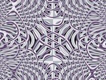 Abstraktes gelbes Muster Beschaffenheit 3d Abstraktes blaues Muster psychedelischer Stern des Fractal 3D Stockfotografie