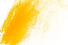Abstraktes gelbes Pulver Lizenzfreie Stockbilder