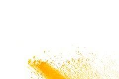 Abstraktes gelbes Pulver Lizenzfreie Stockfotografie