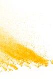 Abstraktes gelbes Pulver Lizenzfreies Stockfoto