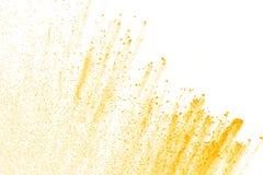 Abstraktes gelbes Pulver Stockfotografie