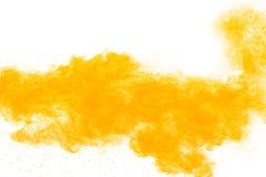 Abstraktes gelbes Pulver Stockbild