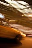 Abstraktes gelbes Rollen-Fahrerhaus Stockfotos