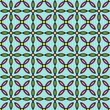 Abstraktes geometrisches Blumenmuster Nahtloser bunter Vektorhintergrund Lizenzfreies Stockfoto