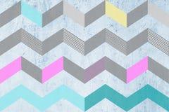 Abstraktes geometrisches buntes Musterdesign Lizenzfreie Stockfotos