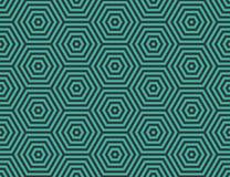 Abstraktes geometrisches Eingebettete Hexagone Lizenzfreie Stockfotos