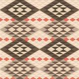 Abstraktes geometrisches ethnisches Wolldeckenmuster Lizenzfreie Stockfotos
