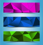 Abstraktes geometrisches Fahnendesign stock abbildung