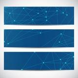 Abstraktes geometrisches Fahnenmolekül und -kommunikation Wissenschaft und Technik-Design, Struktur DNA, Chemie, medizinisch