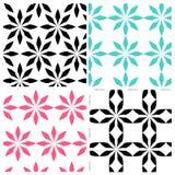 Abstraktes geometrisches Farbblumenmuster vektor abbildung