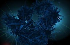 Abstraktes geometrisches gebrochenes Glas | Crystal Smash Abstract stock abbildung