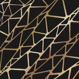 Abstraktes geometrisches Goldbinder Lizenzfreie Stockfotografie
