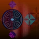 Abstraktes geometrisches Hintergrundhochrot Stockfotos