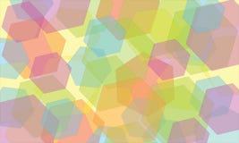 Abstraktes geometrisches Hintergrundkaleidoskop Lizenzfreies Stockfoto