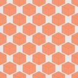 Abstraktes geometrisches isometrisches nahtloses Muster Lizenzfreie Stockbilder