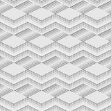Abstraktes geometrisches isometrisches nahtloses Muster Lizenzfreie Stockfotografie