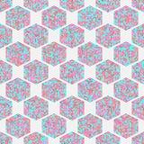 Abstraktes geometrisches isometrisches nahtloses Muster Lizenzfreie Stockfotos
