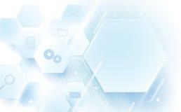 Abstraktes geometrisches, Linien, digitales High-Teches der sechseckigen Technologie Lizenzfreie Stockfotos