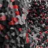 Abstraktes geometrisches Loch 3d mit Kristallen für Hintergrund Lizenzfreie Stockfotografie