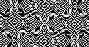 abstraktes geometrisches Muster des Kaleidoskops 4K mit einem Alphakanal stock video footage