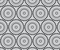 Abstraktes geometrisches Muster durch die Punkte, Kreise Lizenzfreies Stockbild