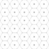 Abstraktes geometrisches Muster durch Linien und Hexagone Lizenzfreies Stockbild