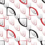 Abstraktes geometrisches Muster Ein nahtloser Hintergrund Schwarze, rote und weiße Beschaffenheit Lizenzfreies Stockfoto
