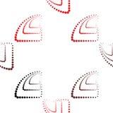Abstraktes geometrisches Muster Ein nahtloser Hintergrund Schwarze, rote und weiße Beschaffenheit Lizenzfreies Stockbild