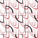 Abstraktes geometrisches Muster Ein nahtloser Hintergrund Schwarze, rote und weiße Beschaffenheit Lizenzfreie Stockfotos