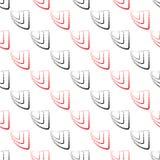 Abstraktes geometrisches Muster Ein nahtloser Hintergrund Schwarze, weiße und rote Beschaffenheit Stockbild