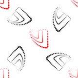 Abstraktes geometrisches Muster Ein nahtloser Hintergrund Schwarze, weiße und rote Beschaffenheit Stockfoto