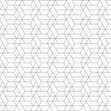 Abstraktes geometrisches Muster mit dünnen Linien der Überfahrt auf Hexagonform mit helle Farbhintergrund Stilvolle Fractalbescha vektor abbildung