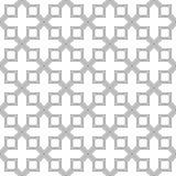 Abstraktes geometrisches Muster mit der Kreuzung von dünnen Geraden Stilvolle Beschaffenheit in der grauen Farbe Nahtloses linear Lizenzfreie Stockbilder