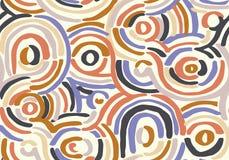 Abstraktes geometrisches Muster mit gewellten Linien Gekritzel backgrounded Nahtloser vektorhintergrund lizenzfreie abbildung