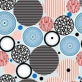Abstraktes geometrisches Muster von Kreisen Lizenzfreie Stockfotografie